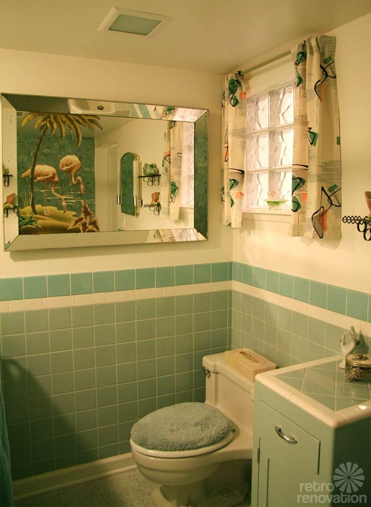 Photos On Gorgeous blue tile bathroom vintage style from scratch