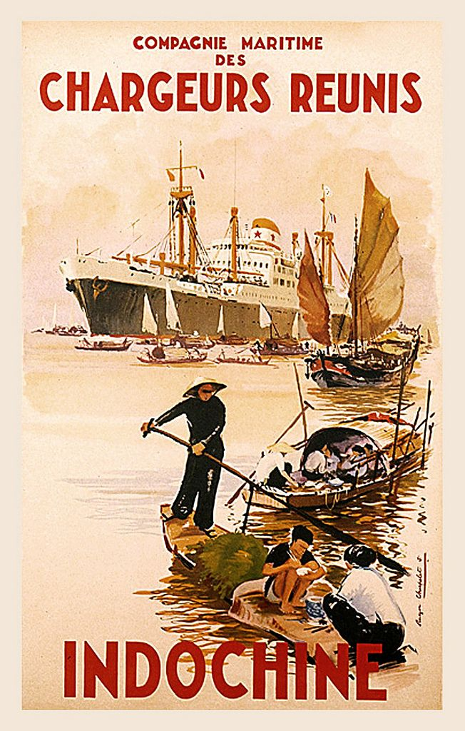 french indo china travel poster french colonial pinterest travel posters sandy hook and. Black Bedroom Furniture Sets. Home Design Ideas