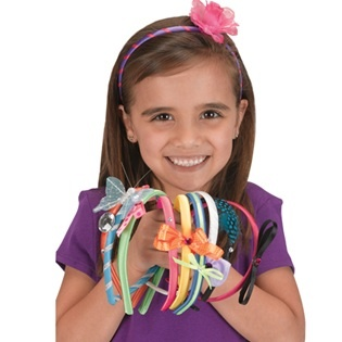Fashion Headbands - perfect craft for a girls birthday party or sleepover.