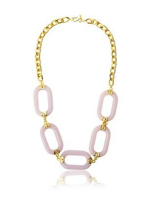 Kenneth Jay Lane Lavender Oval Link Necklace