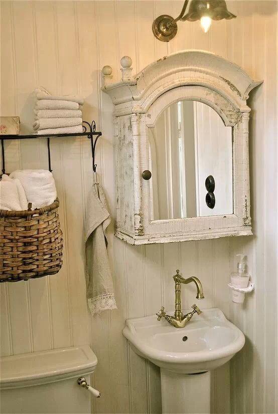 This shabby chic bathroom has charm. 680 best Shabby Chic Bathrooms images on Pinterest   Shabby chic