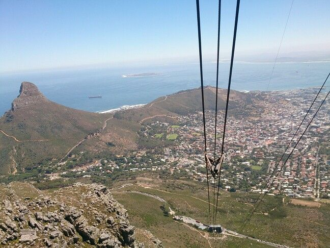 Lions head from the cable car