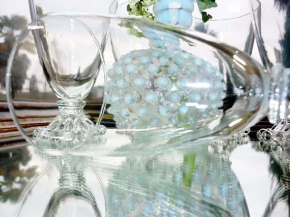 Anchor Hocking Glassware Boopie Water Set by BonAppetitAntique