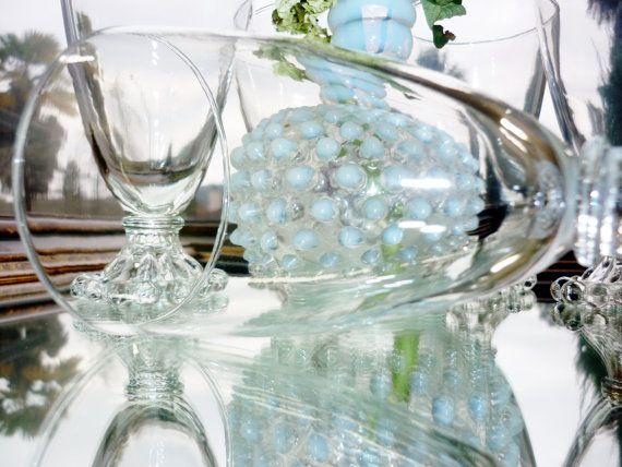 Anchor Hocking Glassware Boopie Water Set by BonAppetitAntique