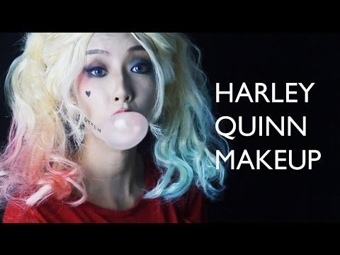 (Eng Sub) Harley Quinn Makeup for Monolid 홑꺼풀을 위한 할리퀸 메이크업 - YouTube