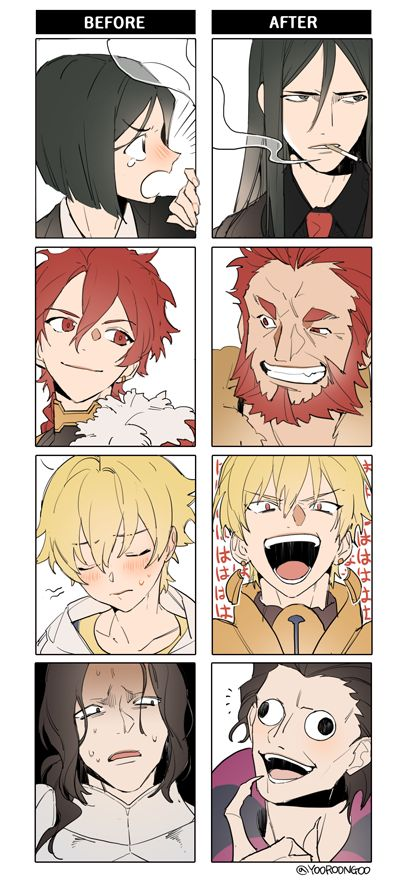 My favorite is Alexander turned Iskandar. They can be proud of themselves. But in terms of looks...ofc that will be Gilgamesh! ^.^ || FGO
