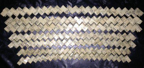 Flapper flettet i forskellige størrelser