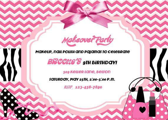 Spa+makeover+party+birthday+invitation+Digital+by+Alohapartyprints,+$12.00