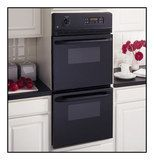 "GE - 24"" Built-In Double Electric Wall Oven - Black"
