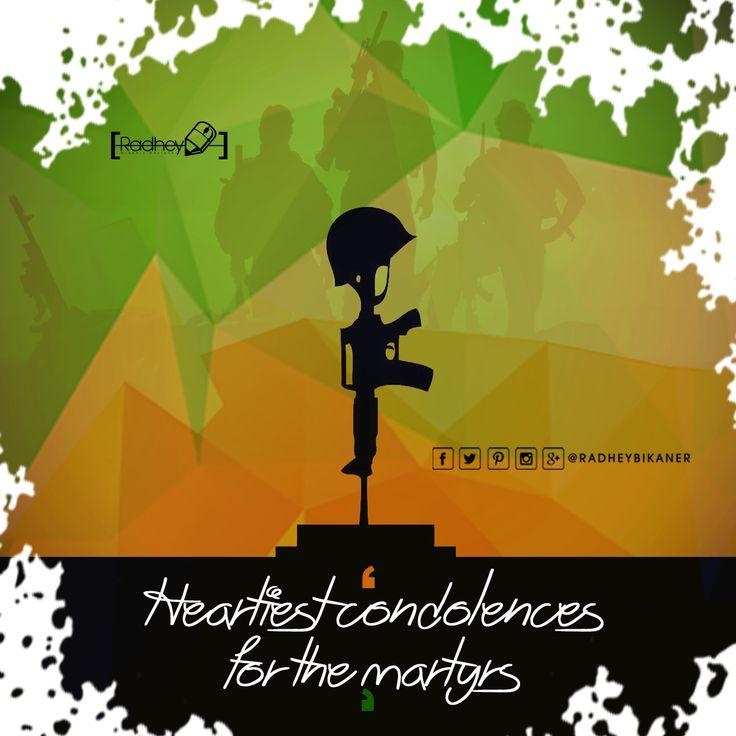 देश के वीर सपूतों की शहादत पर नतमस्तक और अश्रुपूरित श्रधांजलि   #radheybikaner #Graphic #Krishna #vectors #Art #skill  #radhey #myclick #bikaner #gallery_of_india #Quotes #country #Soldier