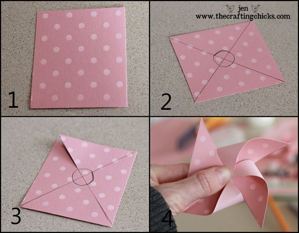 Here is a really simple tutorial for  making  pinwheels