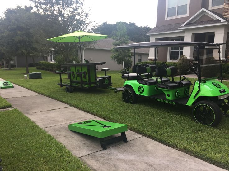 Rolling Block Party On Wheels Complete With Golf Cart