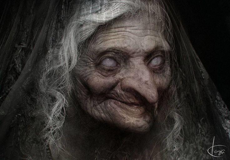 Картинки с бабой ягой страшные