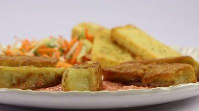 La mia cucina etica: Macco di fave croccante in salsa in rosa