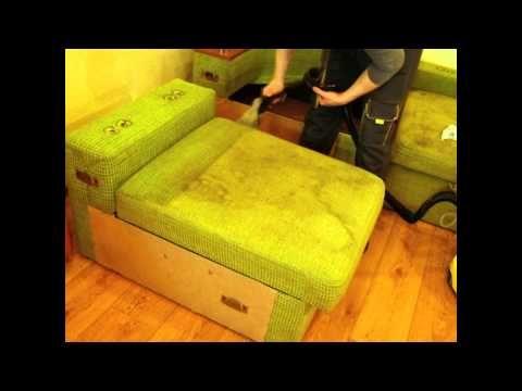 Чистка очень грязного дивана, Днепропетровск - YouTube