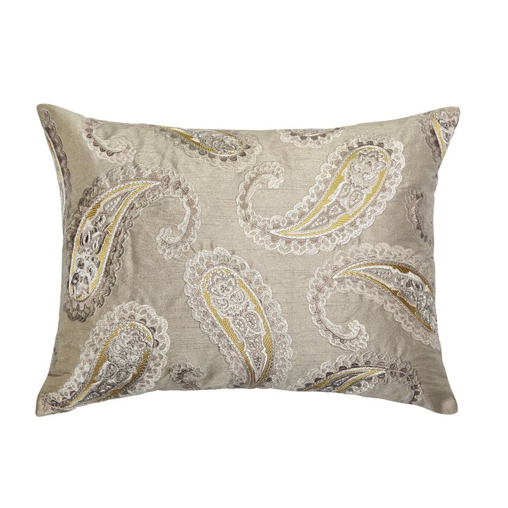 Love this Emperor Paisley Cushion by Laura Ashley!!! Has so much culture to it yet remains elegant. Love the Persian boteh droplet-shaped vegetable design. And comes with matching fabric and wallpaper if you love your matching decor like me! This could upgrade any room! #LauraAshleySS14
