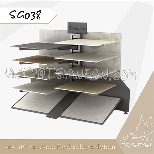 SG038--Metal Ceramic Tile Display Stand for Exhibition
