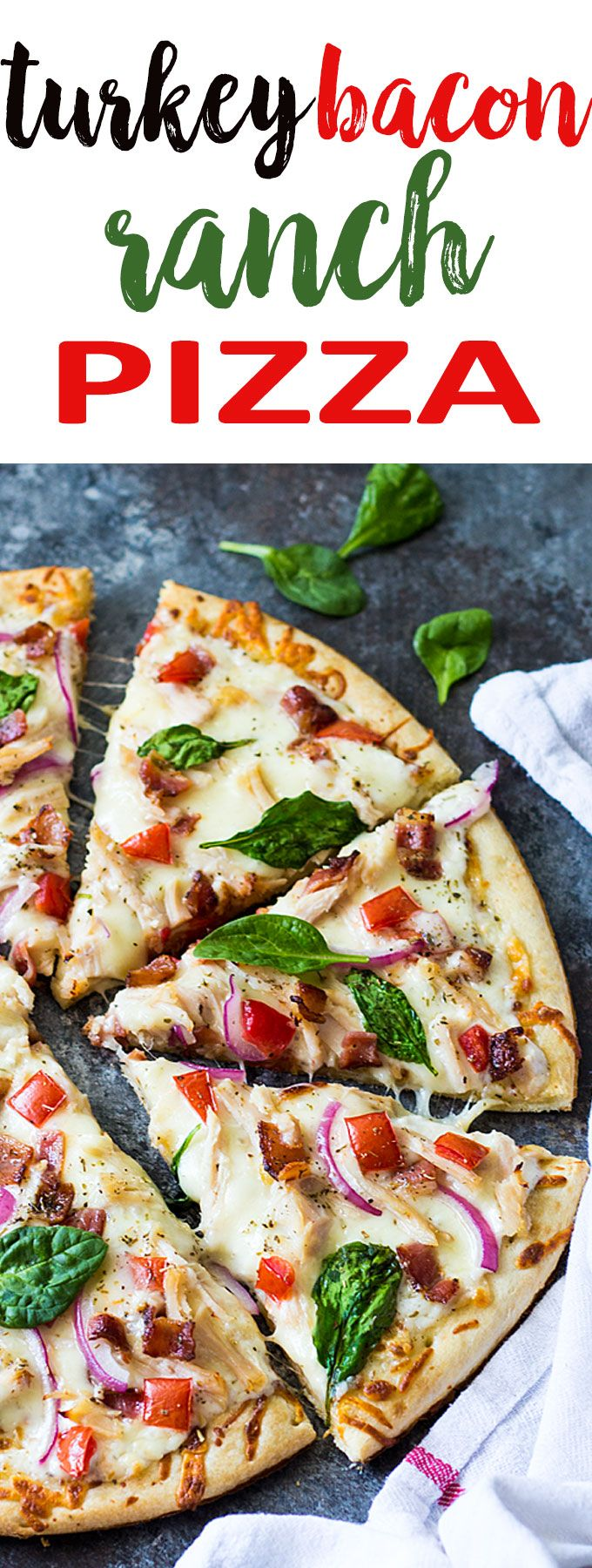Turkey Bacon Ranch Pizza - A quick, easy and delicious pizza to recycle leftover turkey!