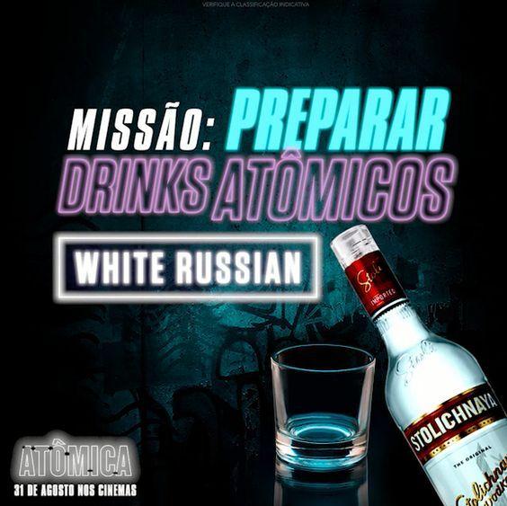 O esquenta pra sua missão do fim de semana pode ser tão explosivo quanto o da Charlize Theron  Olha a dica de drink com Vodka Stoli inspirado em Atômica
