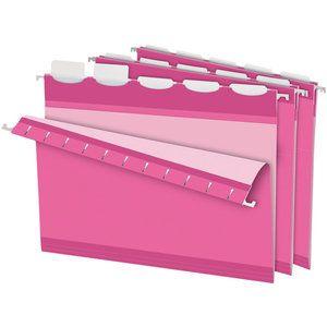 Think Pink!   Pendaflex® Ready-Tab® Hanging File Folder - Pink