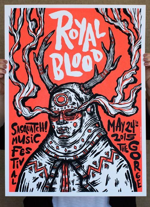 Royal Blood Concert Poster by Victor Melendez