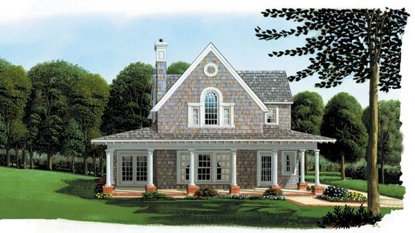 Cottage   Country   Craftsman   Farmhouse  Narrow Lot   House Plan 95541 Pool house/guesthouse