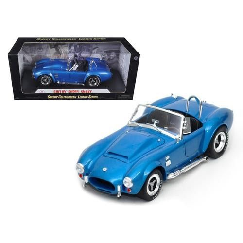 1966 Shelby Cobra Super Snake Blue 1/18 Diecast Model Car by Shelby Collectibles