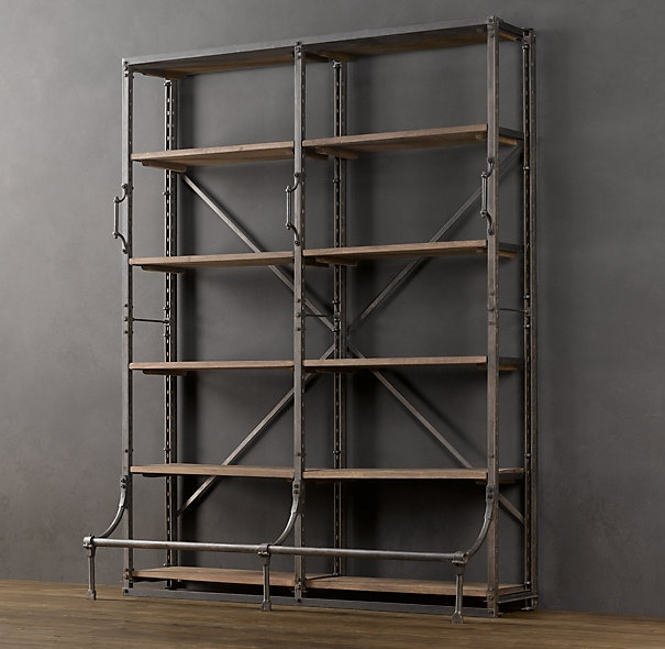have similar piece from restoration hardware with library ladder the slides, wood drawers on bottom