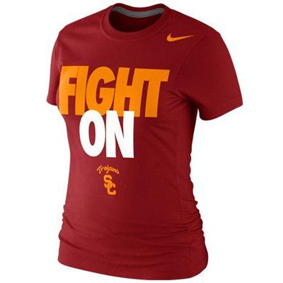 Nike USC Trojans Ladies Fight On Local 2013 T-Shirt - Cardinal