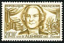 Yvert et Tellier N° 1209 Jean d'Alembert