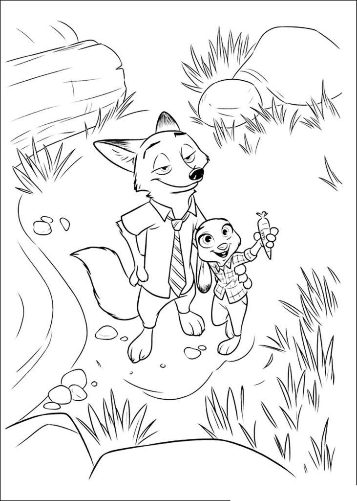 Desenhos Para Colorir Zootopia With Images Disney Coloring