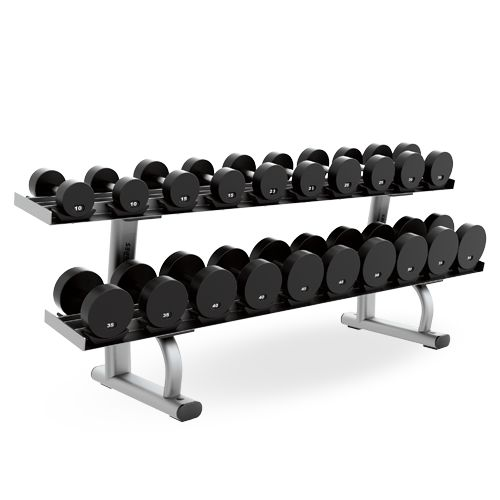 Two Tier Dumbbell Rack Lifefitness