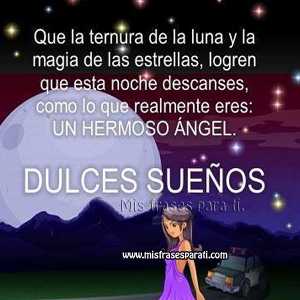 Dulces dulces sueños hermoso ángel