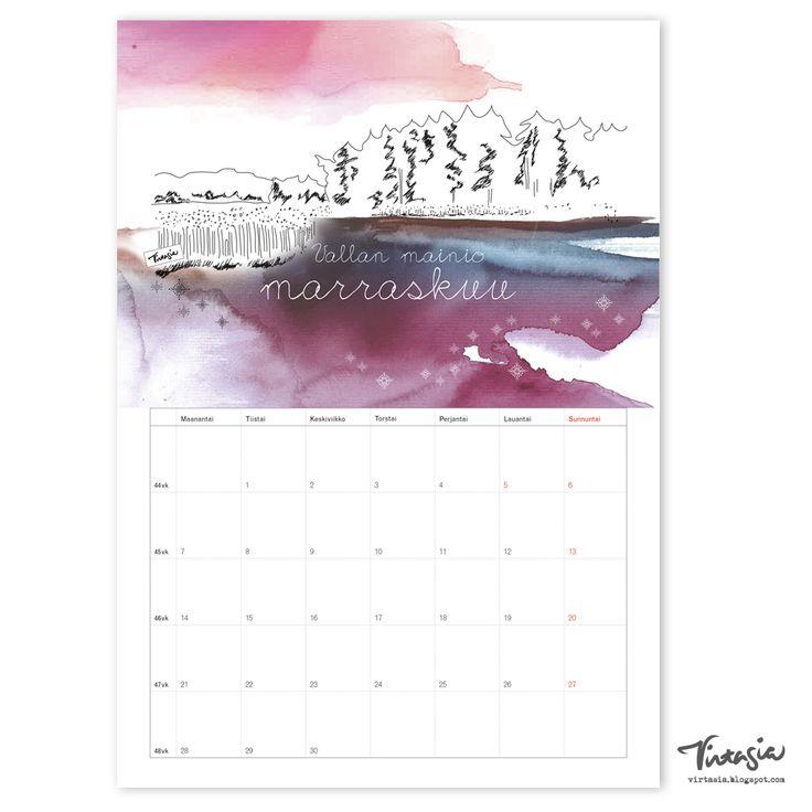 Ilmainen tulostettava marraskuun 2016 seinäkalenteri #ilmainen #tulostettava #kalenteri #2016 #marraskuu #free #print #calendar #November
