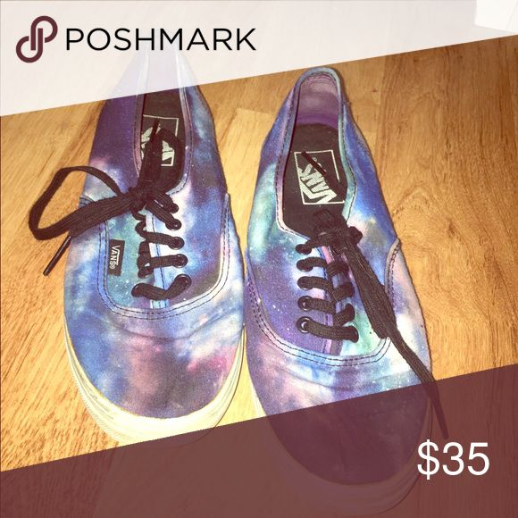 Galaxy vans Galaxy vans for sale never used !!! Size 7.5 woman or 6 mens Vans Shoes Sneakers