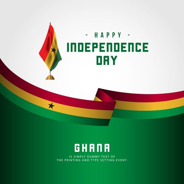 Happy Ghana Independence Day Vector Template Design Illustration Happy Icons Template Icons Day Icons Png And Vector With Transparent Background For Free Dow Template Design Illustration Design Independence Day Background