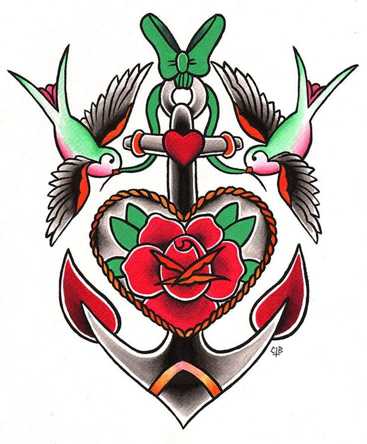 Lost & Found by Candice Bauman Swallows Tattoo Design