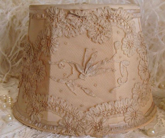 1920s Silk Lamp Shades with princess lace