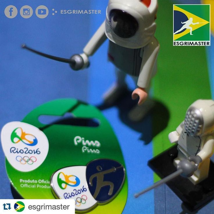 LEGO | PLAYMOBIL | PINS RIO 2016 #esgrimaster #brasil #esgrima #escrime #scherma #fechten #fencing #playmobil #lego #sports #collection #pins #rio2016 #rio16 #rioolympics2016 #official #product #olympic #olympics #socialnetwork #instagram #facebook #fanpage #epee #foil #rio2016brasil #regram by fencing_fie