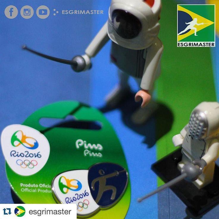LEGO   PLAYMOBIL   PINS RIO 2016 #esgrimaster #brasil #esgrima #escrime #scherma #fechten #fencing #playmobil #lego #sports #collection #pins #rio2016 #rio16 #rioolympics2016 #official #product #olympic #olympics #socialnetwork #instagram #facebook #fanpage #epee #foil #rio2016brasil #regram by fencing_fie