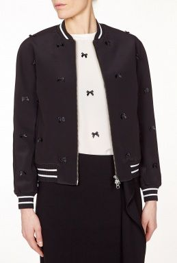 Cry Baby Bomber Jacket With Bow Detail by Antipodium