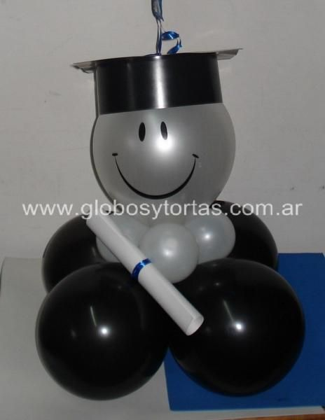 Decoracion egresados con globos