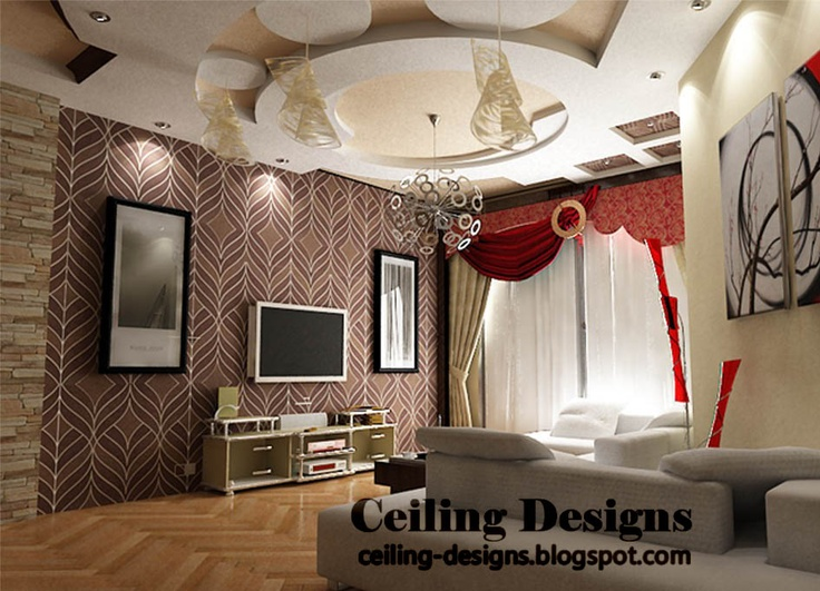 17 best ideas about gypsum ceiling on pinterest modern - Fall ceiling design for living room ...