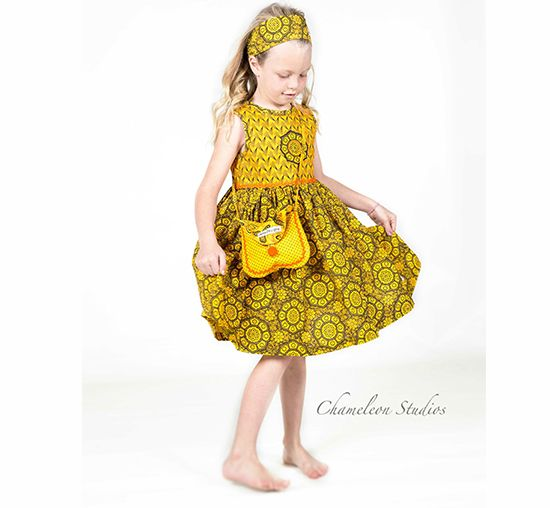 Girls ShweShwe African Print Dresses & clothing . Handmade in South Africa. www.jennidezigns.clothing #ShweShwe #GirlsPrintDresses #GirlsAfricanPrint #KidsFashion