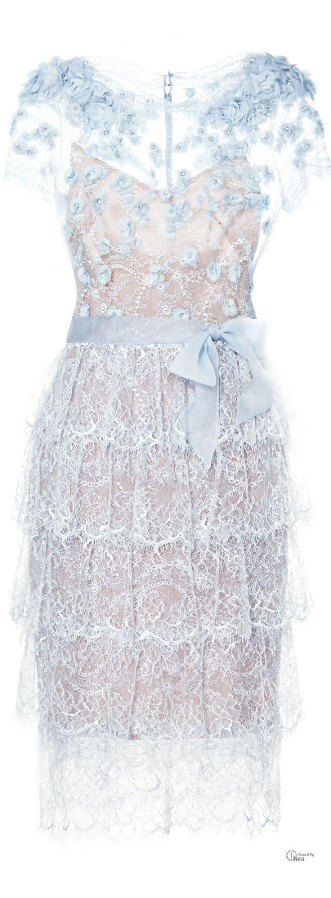 (via Marchesa ● Lace Cocktail Dress   ❤  ❤