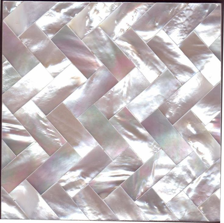 White Mother of Pearl Herringbone by Maybury Home  http://mayburyhome.com/page6.htm