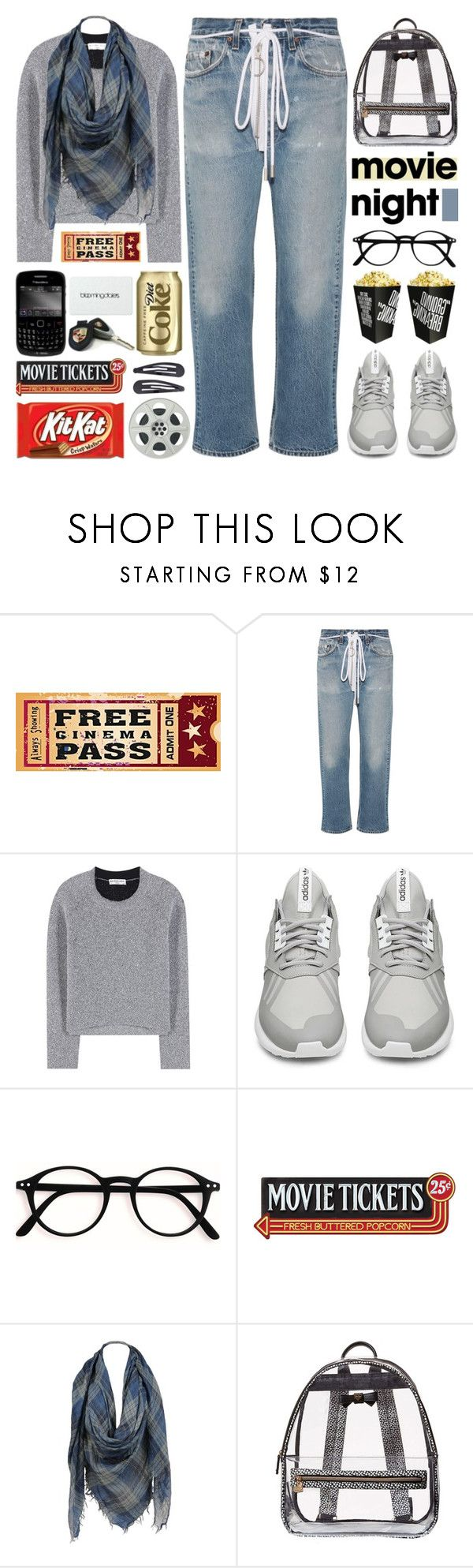 """""""Bring the Popcorn: Movie Night"""" by barbarela11 ❤ liked on Polyvore featuring Off-White, Balenciaga, adidas, Sylvia Alexander, Betsey Johnson, Lauren Conrad, Accessorize, Fall, movieNight and polyvoreeditorial"""