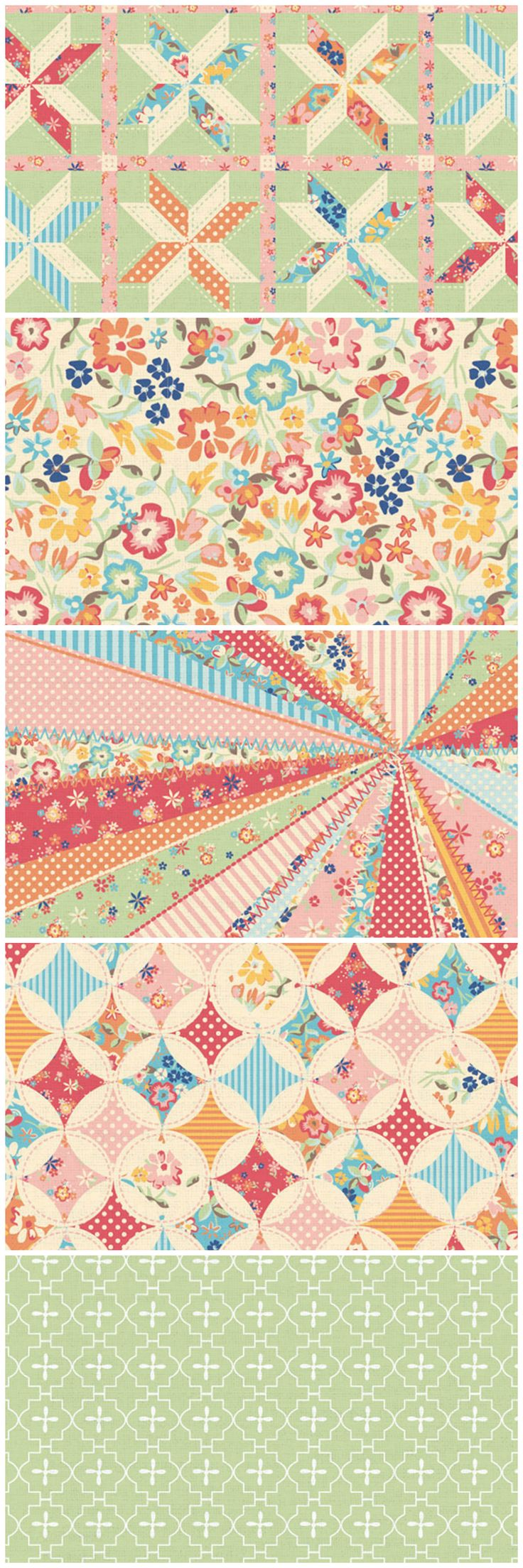 These beautiful Country Quilt free digital papers are perfect for card making…