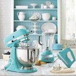 tiffany-blue-kitchen.Kitchens Colors, Dreams Kitchens, Tiffany Blue, Turquoise Kitchens, Kitchens Appliances, Tiffanyblue, Blue Kitchens, Kitchenaid, Kitchens Aid