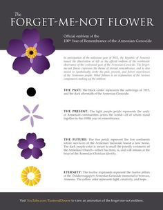 Forget Me Not Flower- 100 year Remembrance of Armenian Genocide